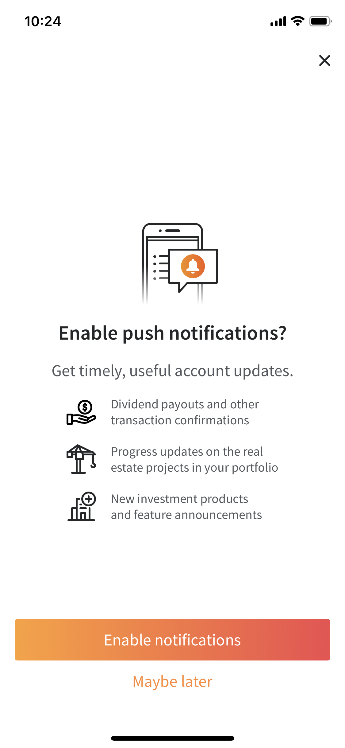 fundrise-investment-app-push-notifications-option