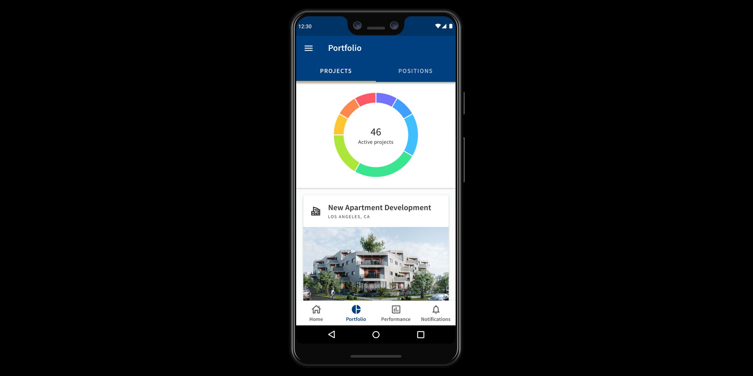 Fundrise Android Portfolio